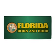 Florida Born & Bred Beach Towel