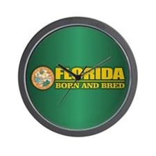 Florida Born & Bred Wall Clock