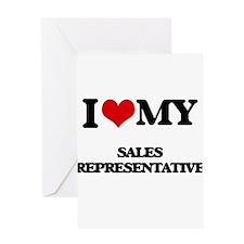 I love my Sales Representative Greeting Cards