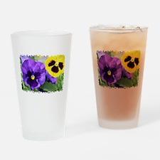 PANSIES Drinking Glass