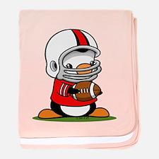 Football Penguin baby blanket