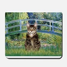 Bridge - Tabby Tiger cat 30.png Mousepad