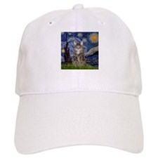 Starry Night & Tiger Cat Baseball Cap