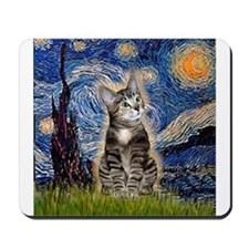 Starry / Tiger Cat Mousepad