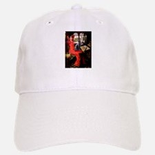 Lady / Russian Blue cat Baseball Baseball Cap