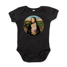 TILE-Mona-Sphynx1.PNG Baby Bodysuit