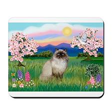 Blossoms & Himalayan cat (#1) Mousepad