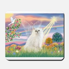 Cloud Angel White Persian Mousepad