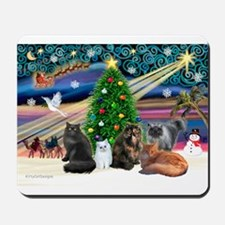 XmasMagic/5 Persian Cats Mousepad