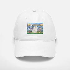 Lilies & White Persian Baseball Baseball Cap