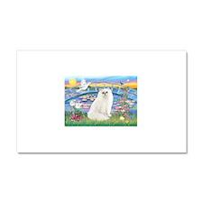 Lilies & White Persian Car Magnet 20 x 12