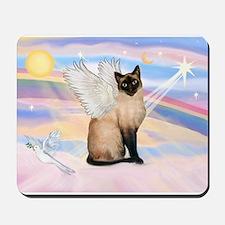 Siamese Cat Angel Mousepad