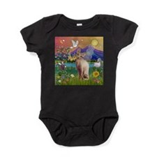 3-TILE-Fantasy-Sphynx1.png Baby Bodysuit