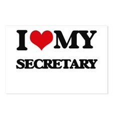 I love my Secretary Postcards (Package of 8)