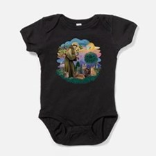 St Francis / 4 Cats Baby Bodysuit