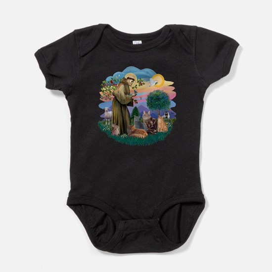 St Francis / 4 Cats Baby Bodysuit
