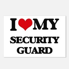 I love my Security Guard Postcards (Package of 8)