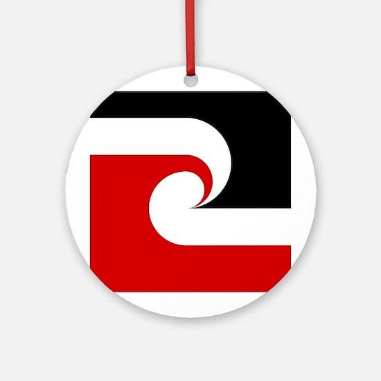 Maori Flag Ornament (Round)