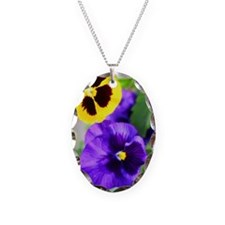 Pansy Necklace Oval Charm