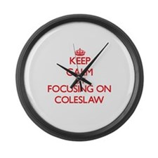 Coleslaw Large Wall Clock