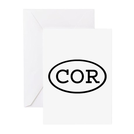 COR Oval Greeting Cards (Pk of 10)