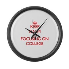 College Large Wall Clock