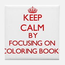 Coloring Books Tile Coaster