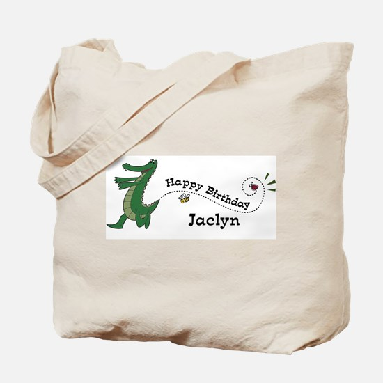 Happy Birthday Jaclyn (gator) Tote Bag