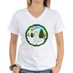Take Off1/Am Eskimo #5 Women's V-Neck T-Shirt