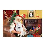 Santa's Eskimo Spitz Postcards (Package of 8)