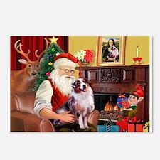 Santa's Aussie (#1) Postcards (Package of 8)