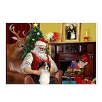 Santa's Aussie (Tri2) Postcards (Package of 8)