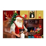 Santa's Tri Aussie (#7) Postcards (Package of 8)