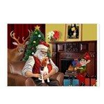 Santa's Beagle Postcards (Package of 8)