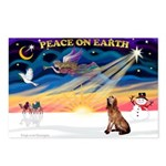XmasSunrise/Bloodhound Postcards (Package of 8)