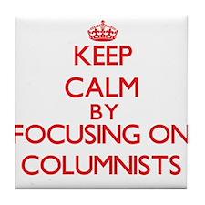 Columnists Tile Coaster
