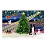 XmasMagic/ Border Collie Postcards (Package of 8)