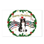 XmasMusic1MC/Border Collie Postcards (Package of 8