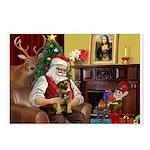 Santa's Border Terrier Postcards (Package of 8)