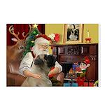 Santa's Bullmastiff #7 Postcards (Package of 8)