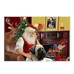 Santa's Bull Mastiff Postcards (Package of 8)