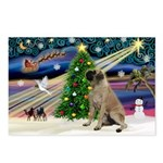 XmasMagic/Bull Mastiff Postcards (Package of 8)