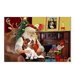 Santa's Cavalier (BL) Postcards (Package of 8)