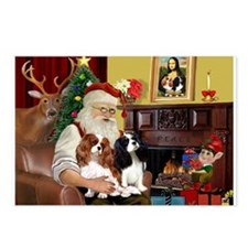 Santa's 2 Cavaliers Postcards (Package of 8)