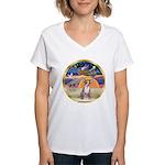 XmasStar/Chihuahua #1 Women's V-Neck T-Shirt