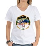 XmasSunrise/Chihuahua #1 Women's V-Neck T-Shirt