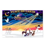 XmasSunrise/4 Cresteds Postcards (Package of 8)