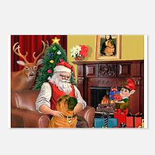 Santa's Shar Pei Postcards (Package of 8)