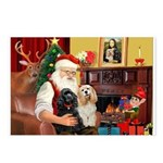 Santa's 2 Cockers Postcards (Package of 8)