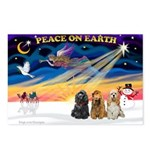 XmasSunrise/3 Cockers Postcards (Package of 8)
